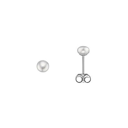 Ohrstecker Süßwasser-Zuchtperle 4 mm Silber 925/-