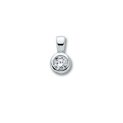 Anhänger Zarge 3,0 mm Zirkonia 3 mm Silber 925/-