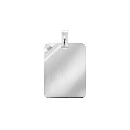 Anhänger Gravurplatte Silber 925/-