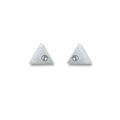 Ohrstecker dreieck Zirkonia Silber 925/-