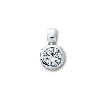 Anhänger Zarge 5,0 mm Zirkonia 5 mm Silber 925/-