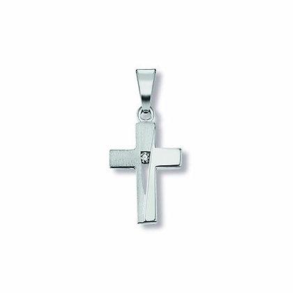 Anhänger Kreuz Zirkonia Silber 925/-