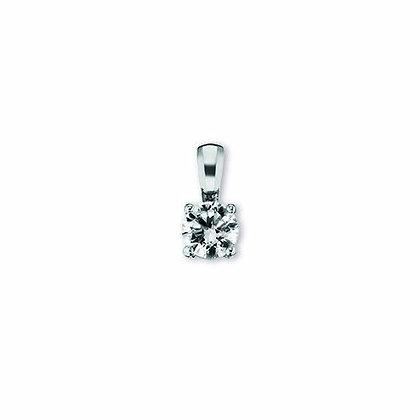 Anhänger Krappe Zirkonia 6 mm Silber 925/-