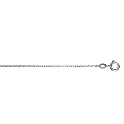 Ankerkette diamantiert 1,3mm 925/- Silber rhodiniert