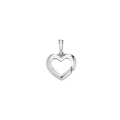 Anhänger Herz Zirkonia Silber 925/-