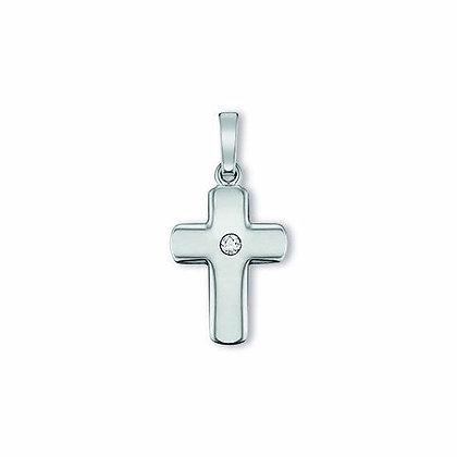 Anhänger Kreuz Zirkonia 11,5 x 15,5 mm Silber 925/-