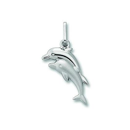 Anhänger Delfin Silber 925/-