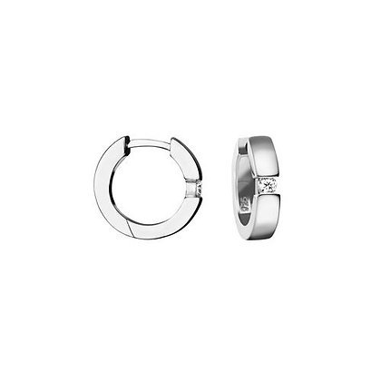 Creole Zirkonia Ø 15,6 x 3,7 mm Silber 925/-