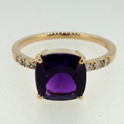 Amethyst Diamant Ring