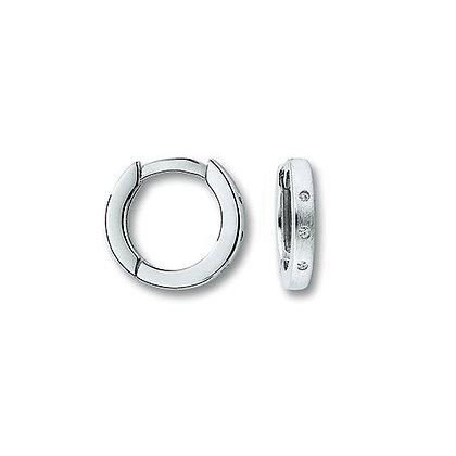 Creolen Zirkonia Ø 12,0 x 1,9 mm Silber 925/-