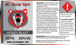Mt. Pocono Vape Label and Brand