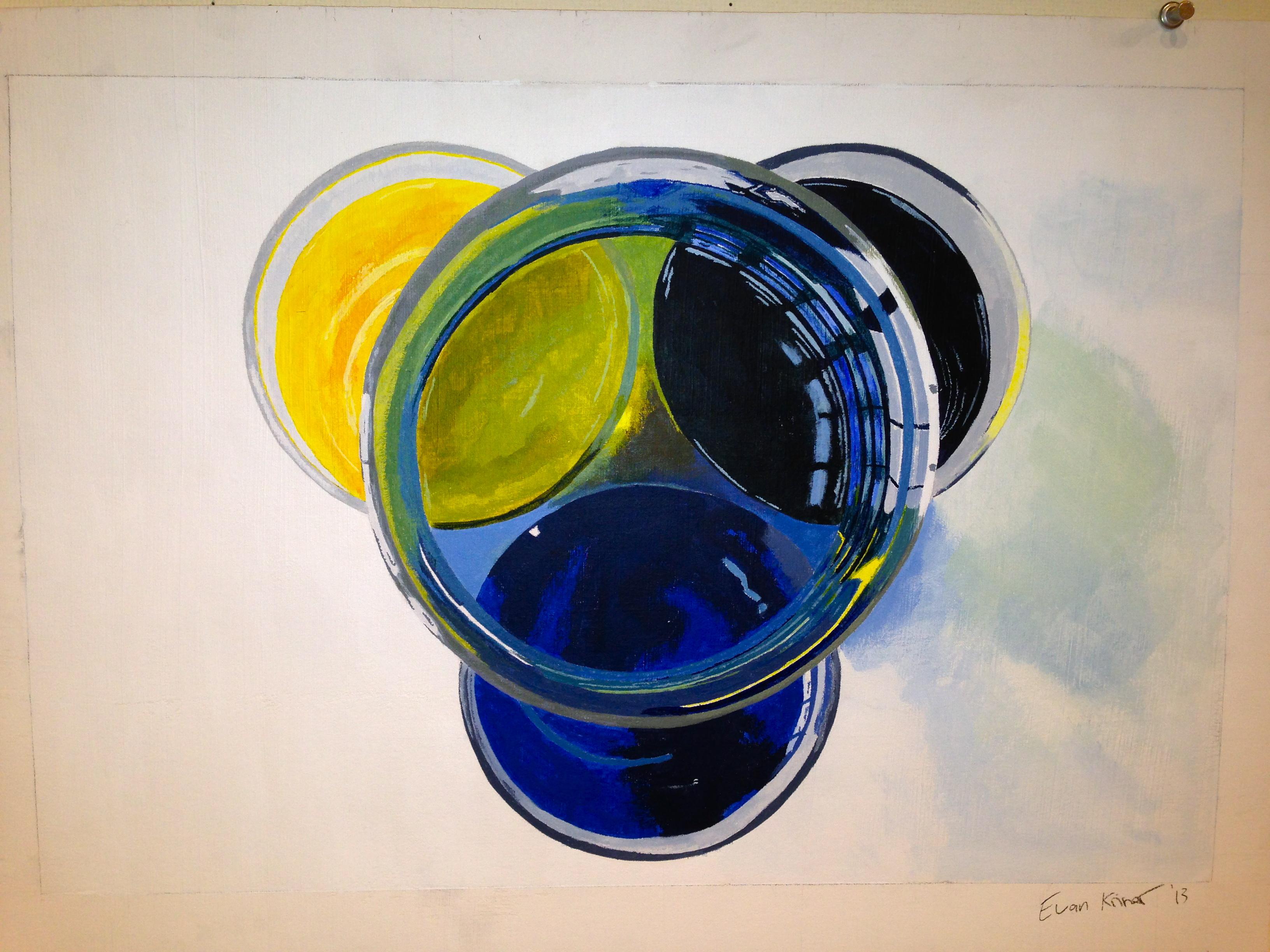 Acrylic Wash Study