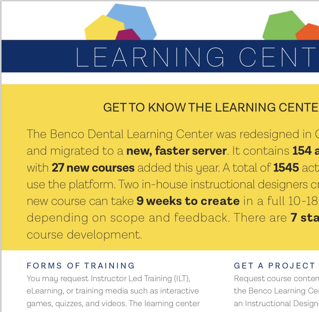 Learning Center Fact Sheet