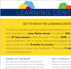 Learning Center Fact Sheet
