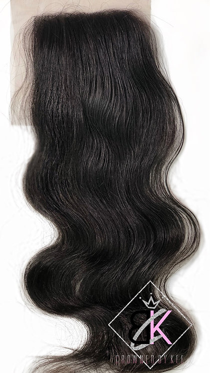 5x5 Raw Cambodian Lace Closure