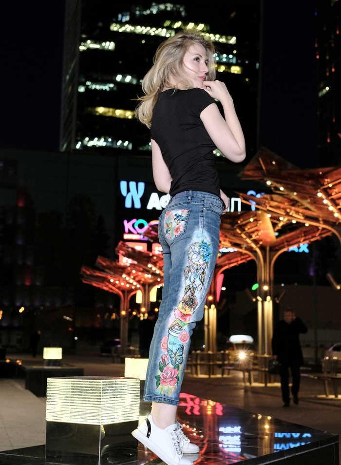 рисование на джинсе