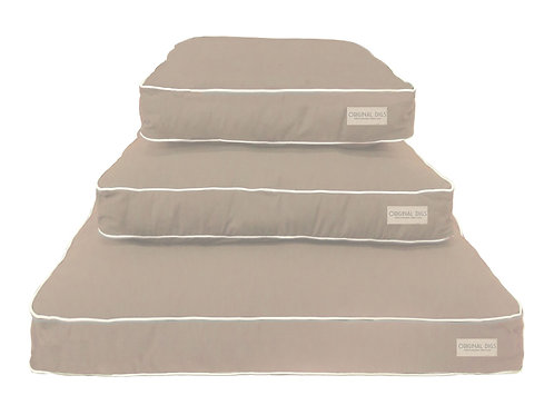 Tan/White Trim Dog Bed SLIPCOVER