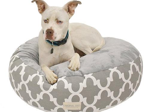 Grey Lattice Pet Pouf