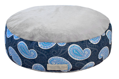 Paisley Blues Pet Pouf
