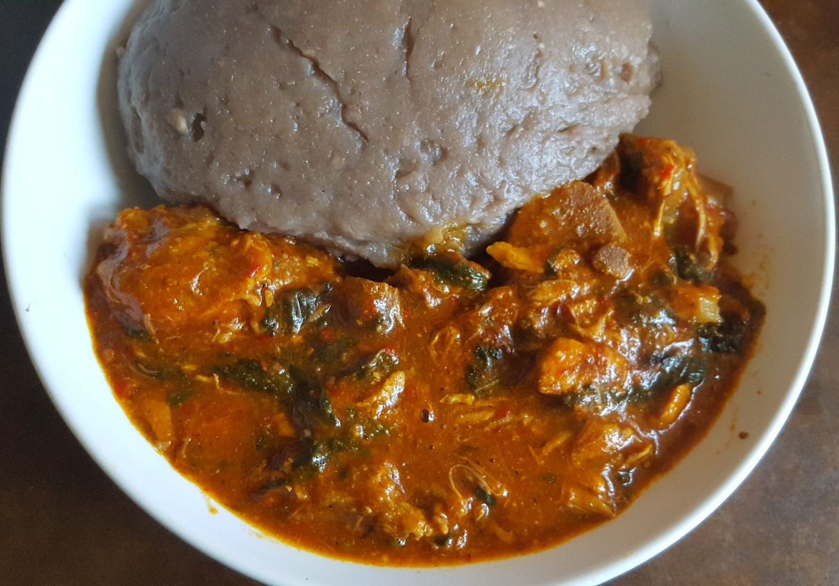 Amala and Ogbono Soup