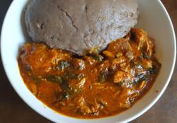 Amala and Ogbono Soup
