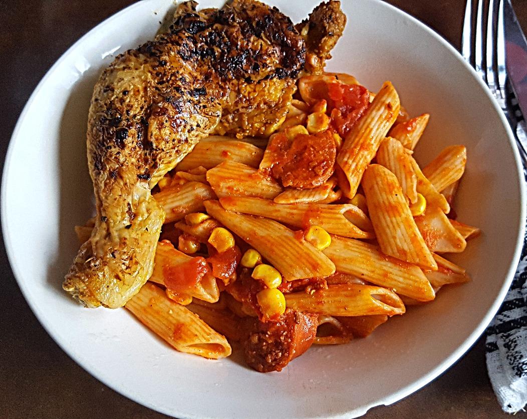 Chorizo and Tomato Pasta
