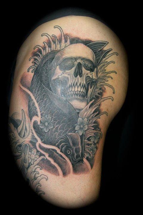 koi & skull