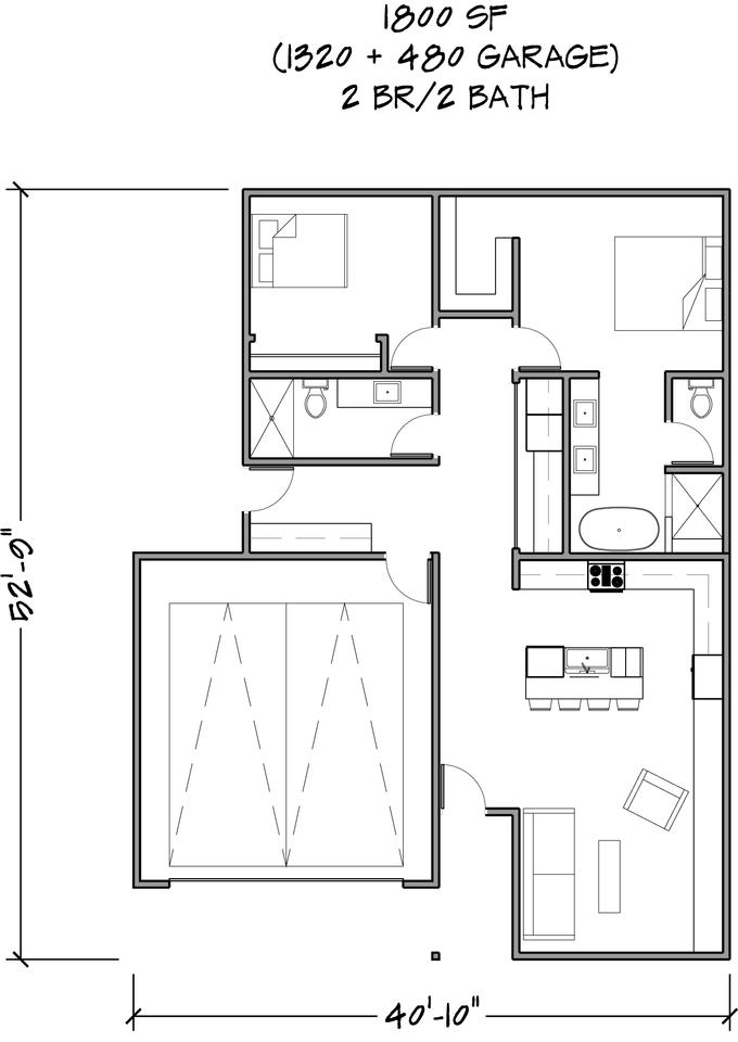 Floor Plan 1800 SF