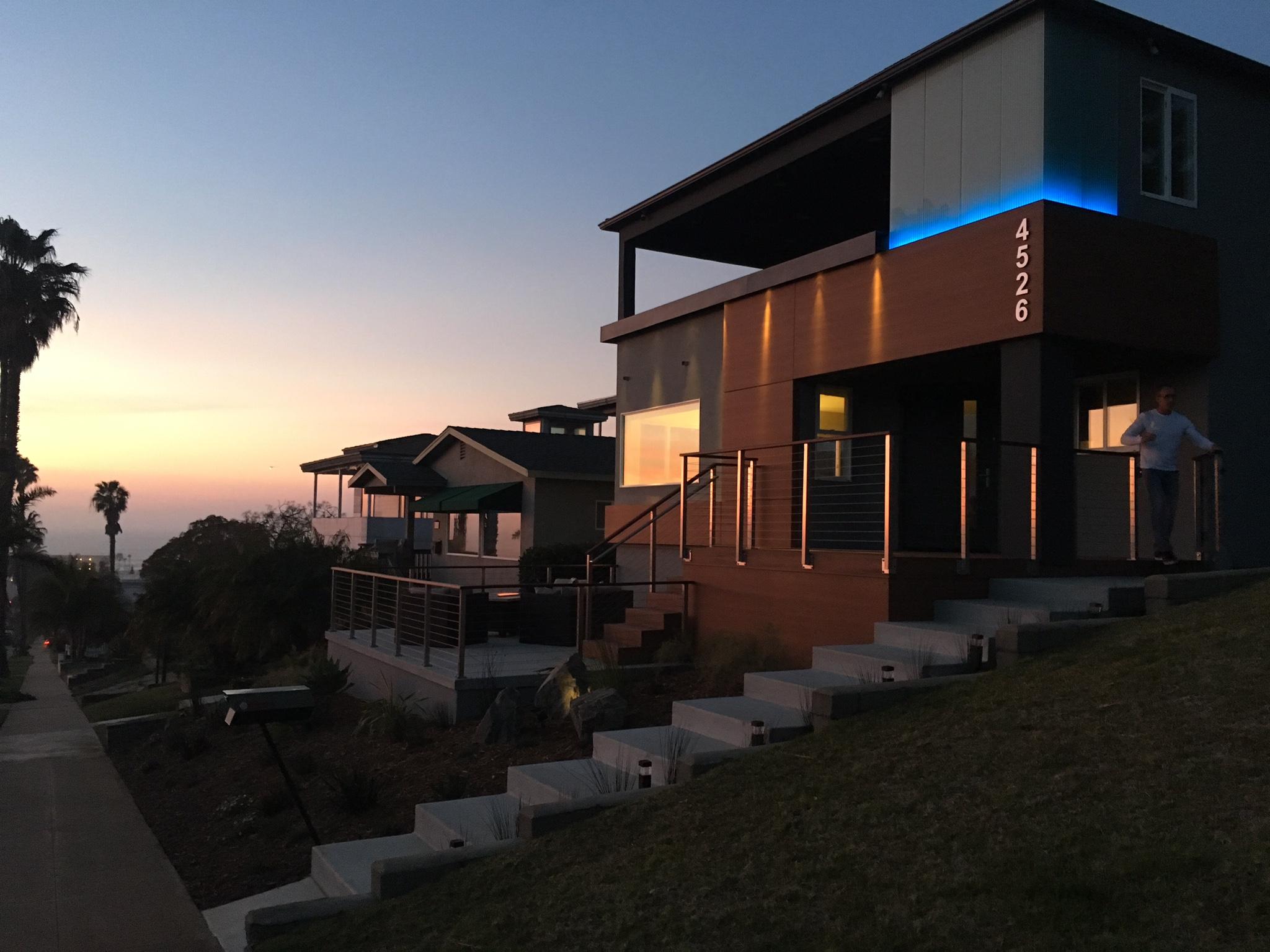 Pescadero residence at sunset