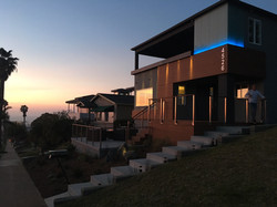 Pescadero residence at sunset