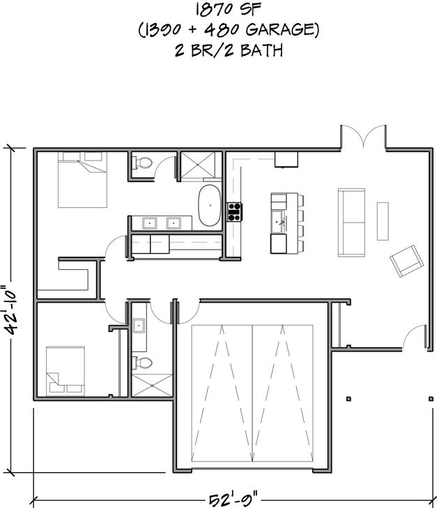 Floor Plan 1870 SF