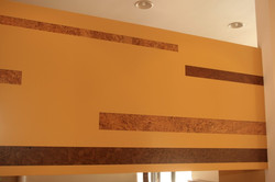 Cork flooring insets