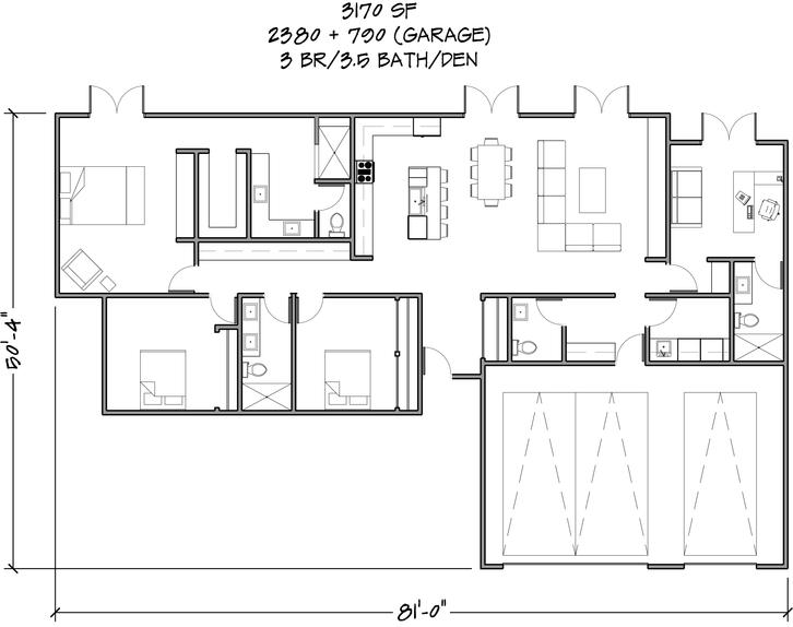 Floor Plan 3170 SF