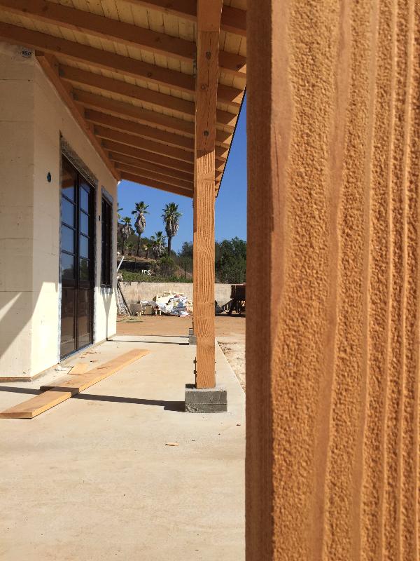 Sandblasted wood posts