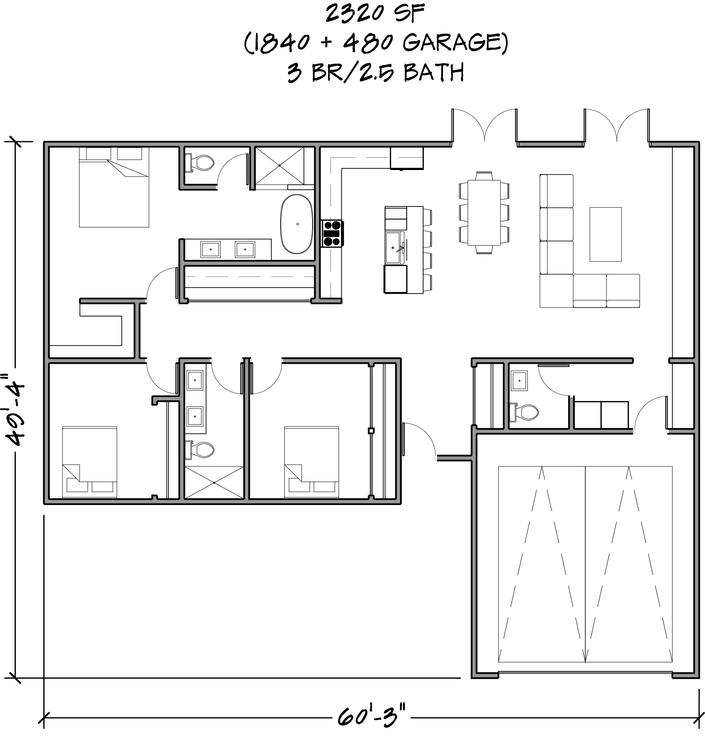 Floor Plan 2320 SF