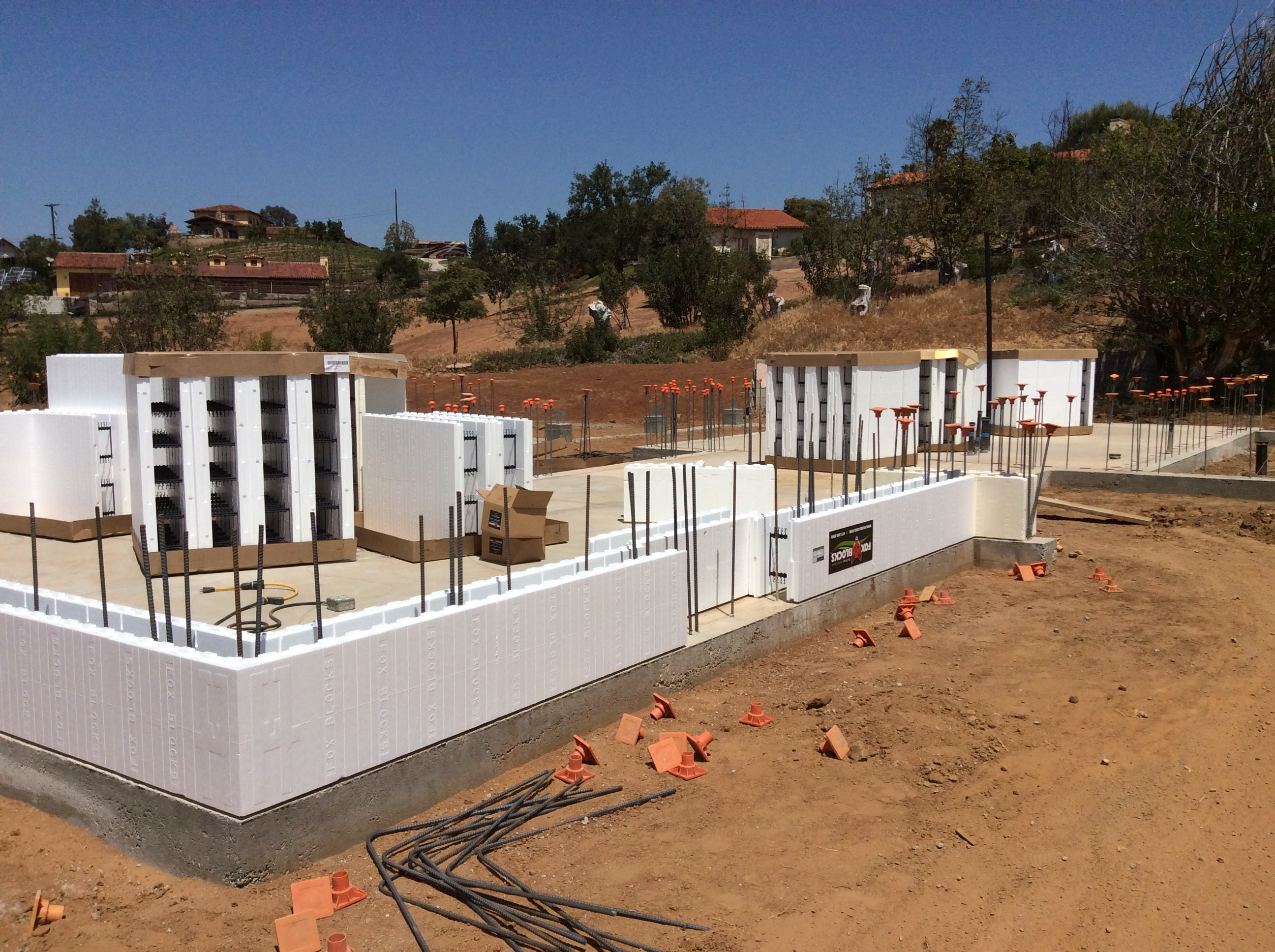 First course of ICF blocks