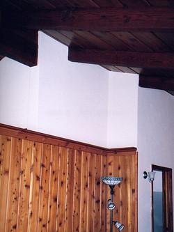 Wall separating kitchen