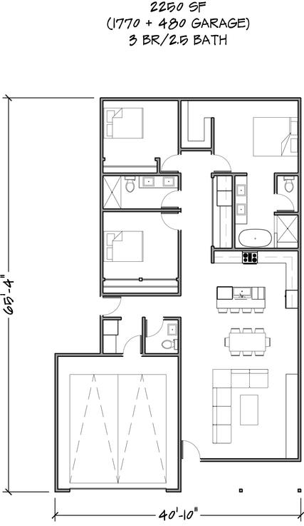 Floor Plan 2250 SF
