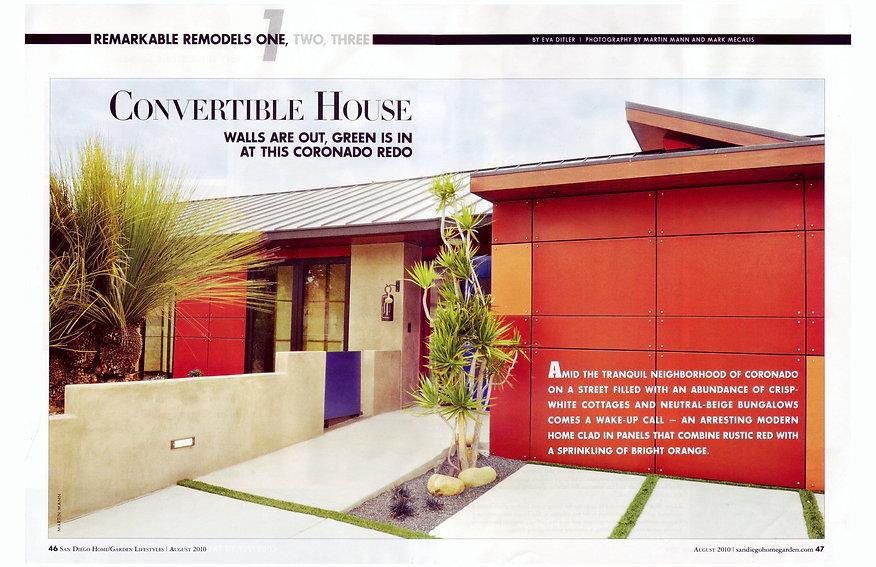 Convertible house, Trespa, remodel