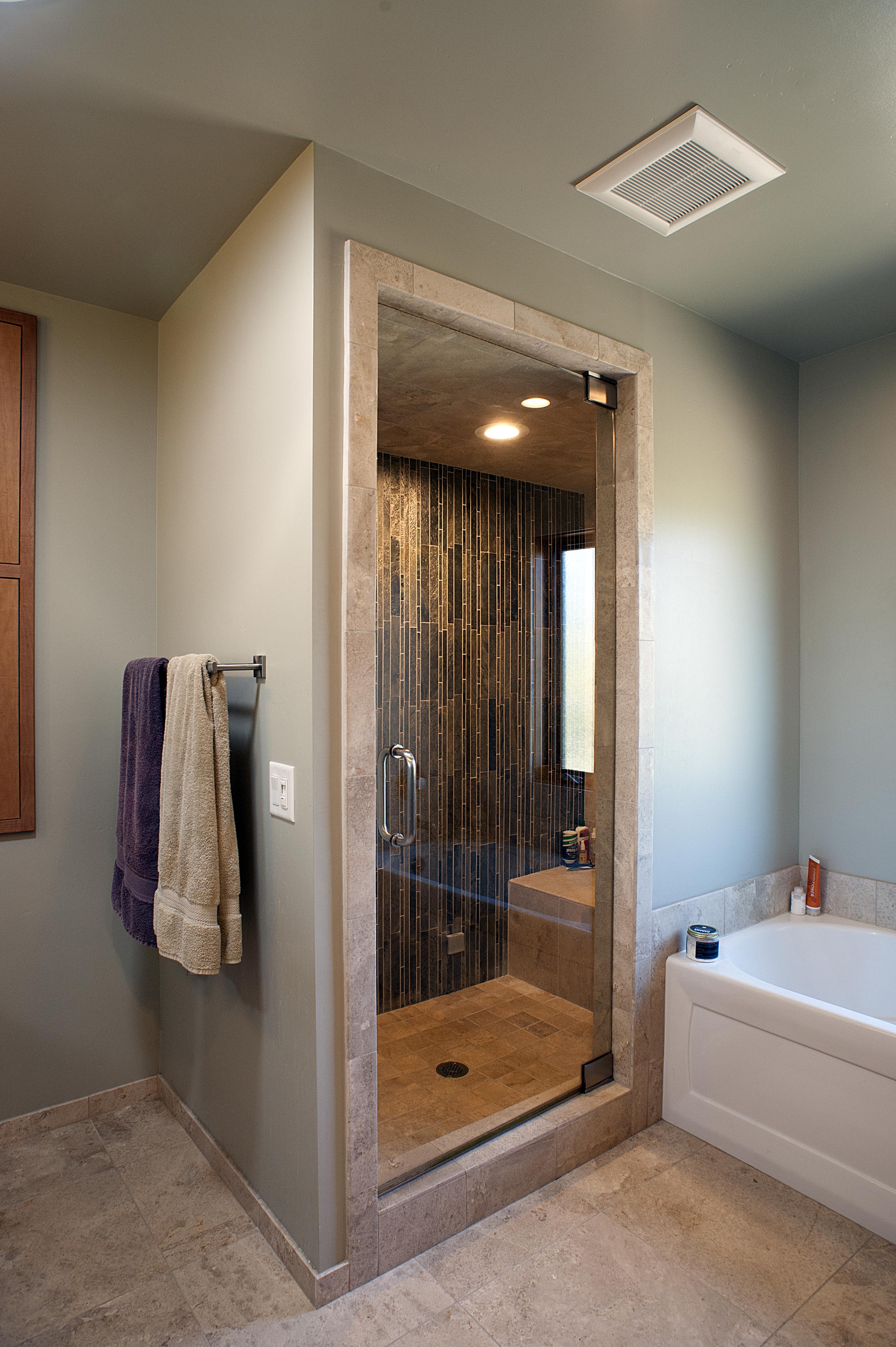 Master bath steam shower