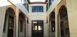 Courtyard to dining room