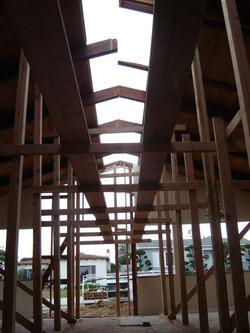 Ridge beam removed