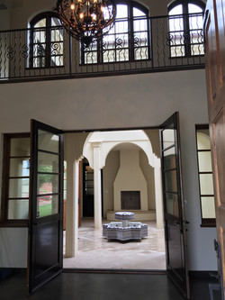 Entry to Moroccan courtyard