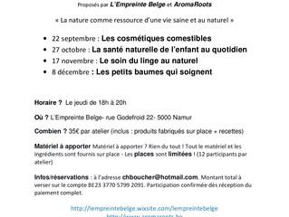 Découvrez les activités d'AromaRoots à Namur