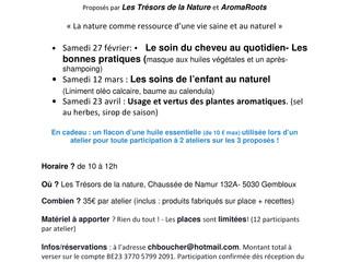 Le calendrier des activités AromaRoots à Gembloux