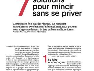 On parle de la Mincithérapie dans le magasine Marie-Claire  du mois de mai