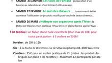 Tadam!!! Voici le calendrier des activités AromaRoots à la Ruche de Waremme.