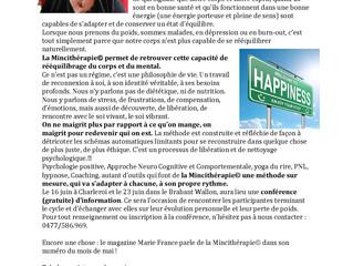 La chronique du mois de mai sur la Mincithérapie dans le Chouette Mag