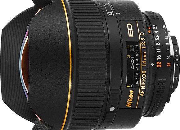 Nikon Lens 14mm f/2.8 ED AF עדשה ניקון - יבואן רשמי