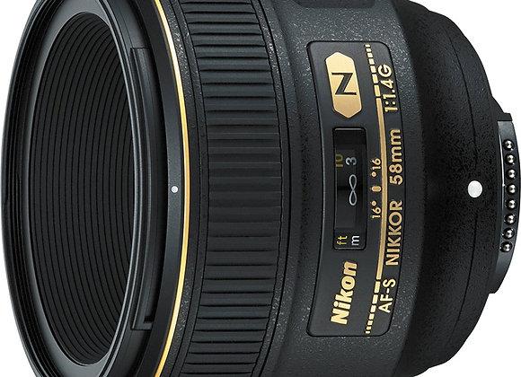 Nikon Lens 58mm f/1.4G עדשה ניקון - יבואן רשמי
